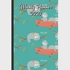 Weekly Planner 2020: Time for School and Play with Monkey Friends and Paperclips Cover Design. Perfect Gift for Boys Girls and Adults of Al