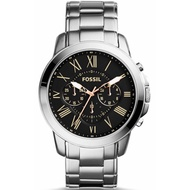 Authentic Original Fossil Men's Grant Chronograph Black Dial Stainless Steel Wat