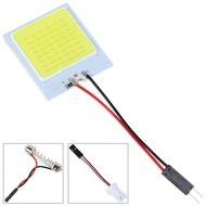 1Pcสีขาว48 LED SMD COB T10 4W 12Vแผงตกแต่งภายในรถยนต์Lightโคมไฟทรงโดมหลอดไฟ