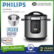 [ FREE POT ] Philips Pressure Cooker HD2137 (6.0L) Multi Cook Menus Multipurpose Cooker