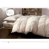 無印良品同款天竺棉咖條紋床包四件組 床單被套枕套 床組 無印良品 ikea zera 雙人床  簡約 專櫃  新疆棉(1880元)