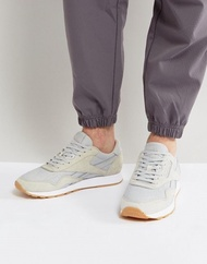 Reebok Classic Leather Nylon HS Sneakers In Gray BD 6004