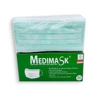 Medimask | หน้ากากอนามัย 3 ชั้น เกรดทางการแพทย์ สีเขียว (50 ชิ้น/กล่อง)