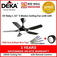 Deka SV Baby L 42 inch 5 Blades Ceiling Fan With LED, Timer and 4 Speeds Remote Control *Kipas Siling