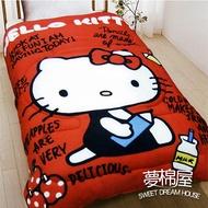 ☆夢棉屋☆ Hello Kitty 搖粒絨刷毛暖暖被-我的筆記本 台灣製造 品質有保障