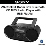 Sony ZS-RS60BT Boombox Bluetooth Portable Radio FM/AM MP3 CD Player NFC with USB