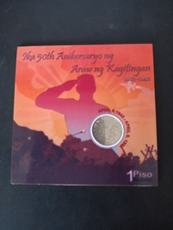 Philippine currency - P1 Fall of bataan commemorative coin
