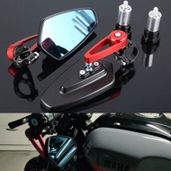 Motorcycle Mirror 22mm Handlebar End Side Rearview Mirrors For DUCATI Hypermotard 821 1098 Monster 796 748 Panigale 1199 Corse