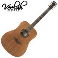 【VEELAH】V1-DM 民謠吉他 桃花心木款(附贈琴袋 背帶 以及彈片)