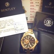 BENTLEY機械真鑽錶 (二手9成9新)正品原廠 原價17萬 真鑽滿天星 陀飛輪 附保卡 鑒定證書