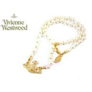 專櫃正品Vivienne Westwood 珍珠水鑽土星logo項鍊 現貨 九成新 徐若瑄