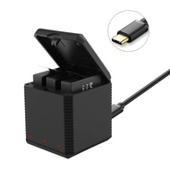 Redcolourful Portable QC Fast One for Three Battery Charger Storage Type Charging Box for Insta360 One X Sports Camera Lithium Battery