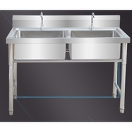 水池帶60x60x80寬70cm池盆臺單個家用帶架大號不銹鋼水槽單槽套餐