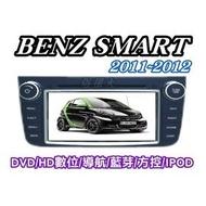 俗很大~Benz SMART 專用型六合一觸控式DVD主機/數位/導航/藍芽/IPOD/保固一年