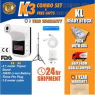 [READY STOCK MALAYSIA] K3 FULL COMBO SET THERMOMETER Non Contact Digital Termometer Infrared Cek Suhu Badan dan kepala