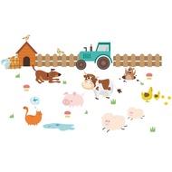 Cartoon Cow Farmland Kids Room Pastoral Style Decorative Wall Sticker For Kids Room Bedroom Decor Po