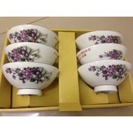 早期大同蓮玉特白瓷碗組
