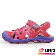 【LOTTO】童鞋 護趾運動涼鞋(粉-LT0AKS1823)