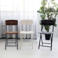 OP生活  日式皮革條紋折疊椅 摺疊椅 餐椅 皮質餐椅 靠背椅 休閒椅 椅子 鐵椅 戶外椅 收納椅