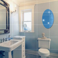 9pcs Creative Soft Mirror Self-adhesive Wallpaper Paste Mirror Wall Stickers Full-length Mirror Background Wall Decoration Waterproof Mirror Stickers Mirror Stickers Bathroom Wall Stickers Mosaic Square 15X15cm