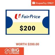 23 Jul - 26 Jul: $200 NTUC E-Vouchers [ShopeePay Only]