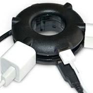 美麗大街【GT107091333】多功能通用甜甜圈插線板USB轉換插頭插座