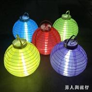 LED綢緞燈籠五彩電子燈婚慶舞臺道具燈春節年會派對中秋節裝飾 FF1741【男人與流行】