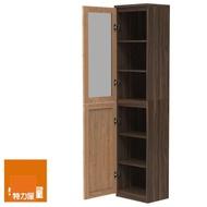 【特力屋】組萊特高窄深木組合櫃.深木層板.淺木門.淺玻璃門