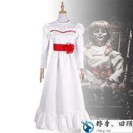 【轉身回頭】安娜貝爾2誕生COS 恐怖娃娃cosplay服裝 萬聖節親子cos服下殺·爆款