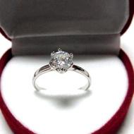 TANITTgemsแหวนทองคำขาวประดับเพชรCZขนาด0.8กะรัตราคาโรงงาน