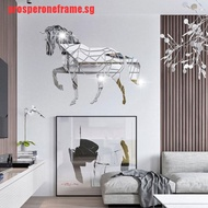 【prosperoneframe】Animal Horse Stereo Acrylic Mirror Wall Sticker TV Background Wall
