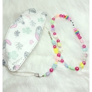 🦄Sz. 2in1 MASK EXTENDER + Neck Chain KIDS Name 🦄