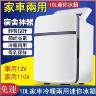 車載冰箱10L台灣專用110V便攜式車用冰箱 家用迷你小型冰箱 面膜母乳冷藏保鮮 夏季戶外露營必備小冰箱  愛莎嚴選