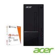(Office 365組合)Acer TC-865 九代i5六核雙碟獨顯電競桌上型電腦(i5-9400F/GTX 1050Ti/8G/1T/256G/Win10h)