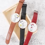 雙12 Supersale 整點特賣12/6 17:00開賣★【Snoopy皮革手錶】Norns 正版 史努比Peanuts 手足造型指針腕錶 聖誕節禮物