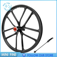 【mini fine】Solid 20\'\' Folding Bike Wheelset Rustproof 402 Mountain Bicycle Integrated Wheel with Quick Release Skewer for 1.5~2.125 20 inch 100/135 Disc