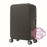 """ผ้าคลุมกระเป๋าเดินทาง (Luggage Cover Protector) รุ่น C550 Size-M (22-24 นิ้ว) สีเทา """"แถมฟรี ถุงสูญญากาศ Vacuum Zipper Bag"""""""
