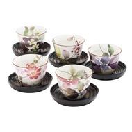 【日本和藍】花さと煎茶杯5入組 (美濃燒) / 日式 無毒 瓷器 生日 結婚 送禮 工藝 收藏品 24期免運費