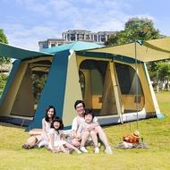 最新改版 第三代 冒險者 露營 帳篷 2房1廳 大帳篷 8-10人 4x3米 全包覆外帳 雙前廳大延伸 帳棚
