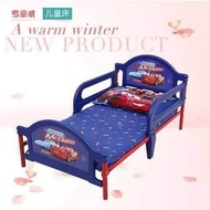 CARS BED FRAME WITH FOAM SIZE 159X75CM FOR KIDS