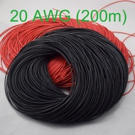 200/100/50M 20AWG Gauge Silicone Wire Wiring Flexible Stranded Copper Cables
