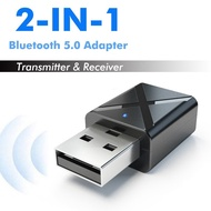 Bluetooth 5.0 Receiver 3.5mm Jack Aux USB Stereo Audio Bluetooth Receiver Transmitter Adapter For TV PC Car-Keymao