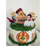 Redhorse Rooster Theme Cake topper