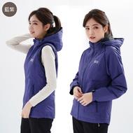 【遊遍天下】Globetex女款防水防風禦寒二穿式羽絨背心外套(S-3L)