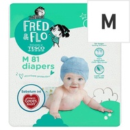 Tesco Fred & Flo Diapers M 5kg-10kg 81 Pieces