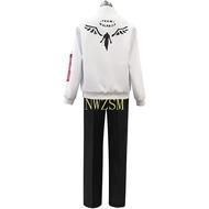 Tokyo Revengers Hanemiya Kazutora Cosplay Costumes White Coat Valhalla Uniform Baseball Jacket Mikey Draken Halloween Clothes