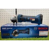 BOSCH(博世)鋰電砂輪機18V-GWS18V-LI單機(德國製🇩🇪)