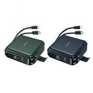 REMAX RPP-145 無界2 PD+QC 快充 無線充 自帶線 插頭 行動電源 10000mAh 正版台灣公司貨
