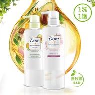 女人我最大推薦【DOVE 多芬】日本原裝 植萃洗護2件組洗髮精500ml+潤髮乳500ml