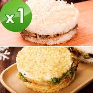 樂活e棧 綜合米漢堡1袋(6顆/袋)-全素